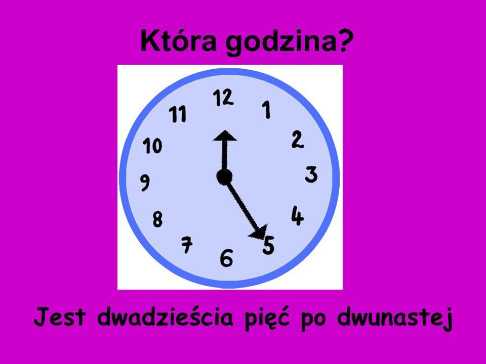 Jest dwadzieścia po pierwszej Która godzina ?