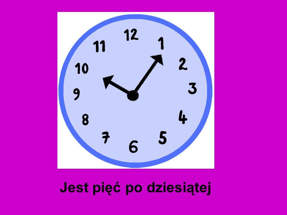 Jest za dziesięć ósma Która godzina ?