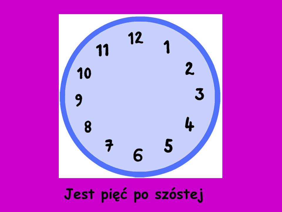 Now, using an interactive whiteboard pen, draw the hands in the right place Narysuj wskazówki zegara w odpowiednim miejscu
