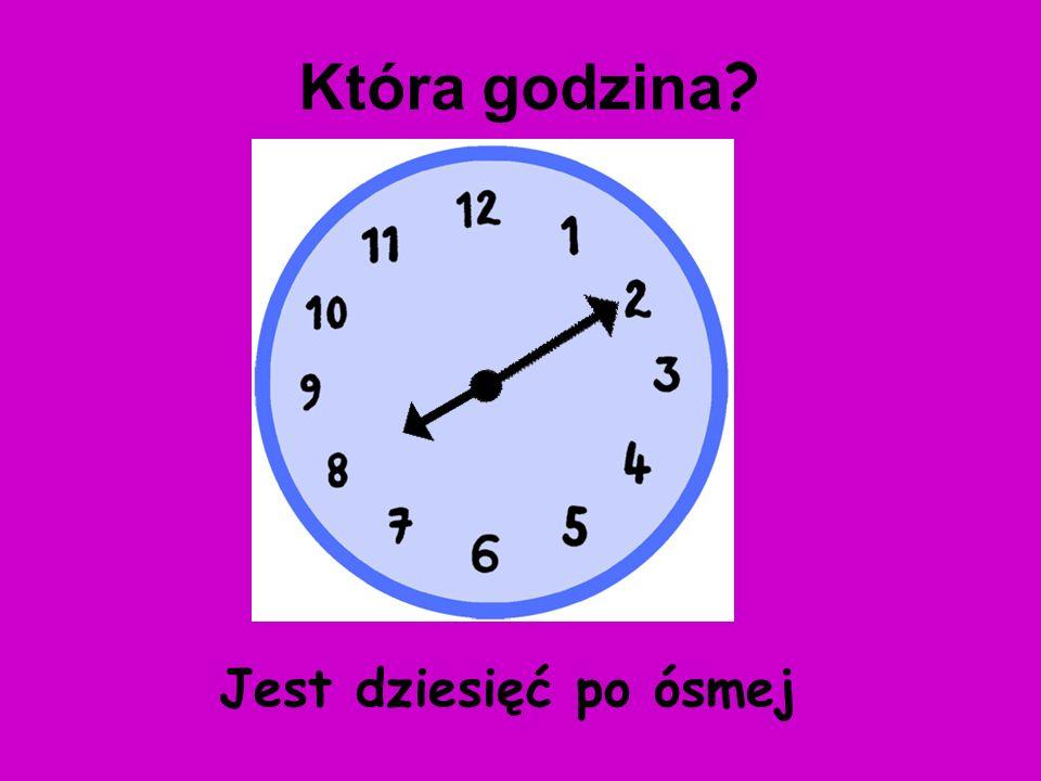 Jest pięć po czwartej Która godzina ?