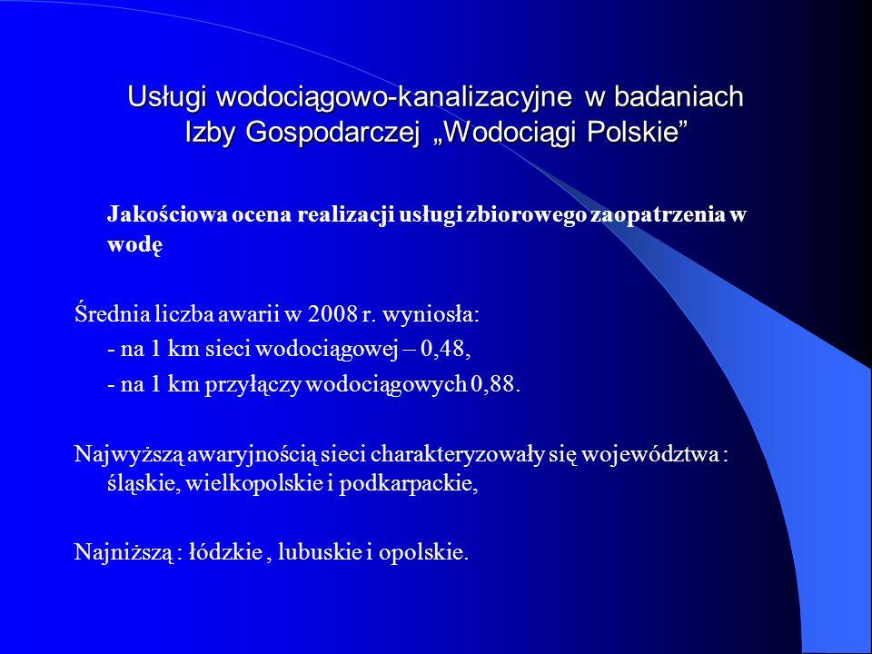 Usługi wodociągowo-kanalizacyjne w badaniach Izby Gospodarczej Wodociągi Polskie Jakościowa ocena realizacji usługi zbiorowego zaopatrzenia w wodę Śre