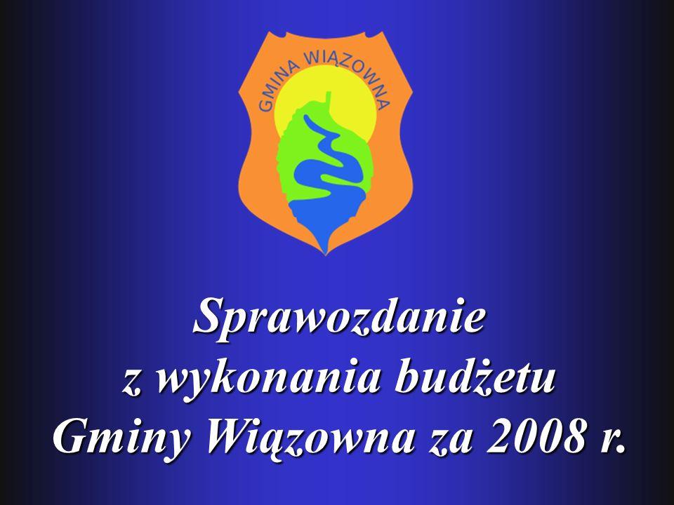 Sprawozdanie z wykonania budżetu Gminy Wiązowna za 2008 r.