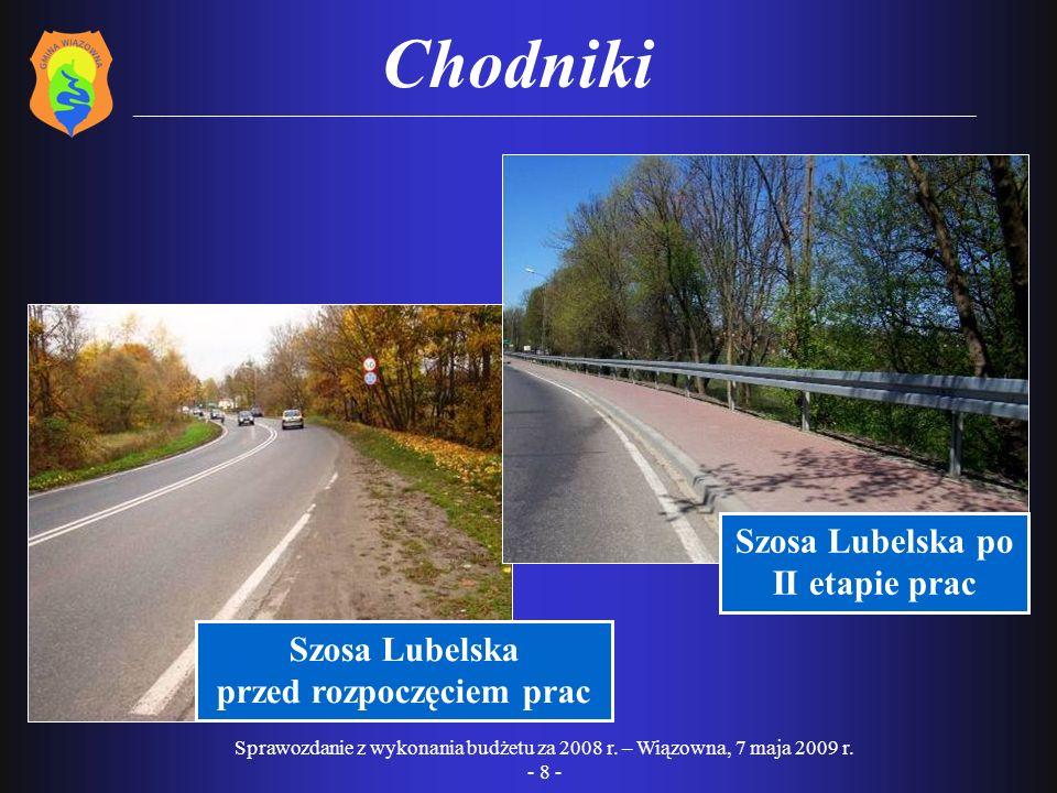 Sprawozdanie z wykonania budżetu za 2008 r.– Wiązowna, 30 kwietnia 2009 r.