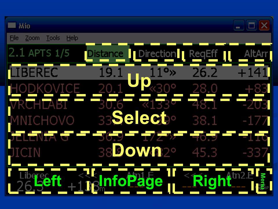 Up Down Select LeftRightInfoPage Menu