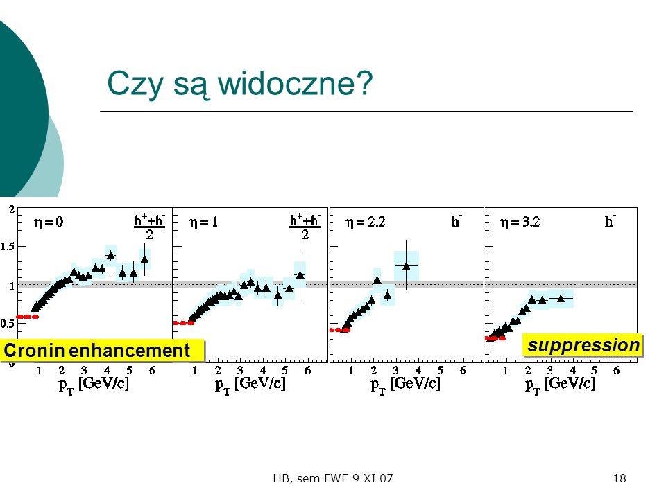 HB, sem FWE 9 XI 0718 Czy są widoczne Cronin enhancement suppression