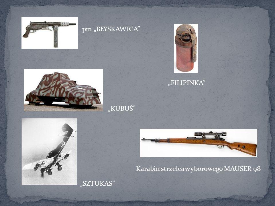 pm BŁYSKAWICA FILIPINKA KUBUŚ SZTUKAS Karabin strzelca wyborowego MAUSER 98
