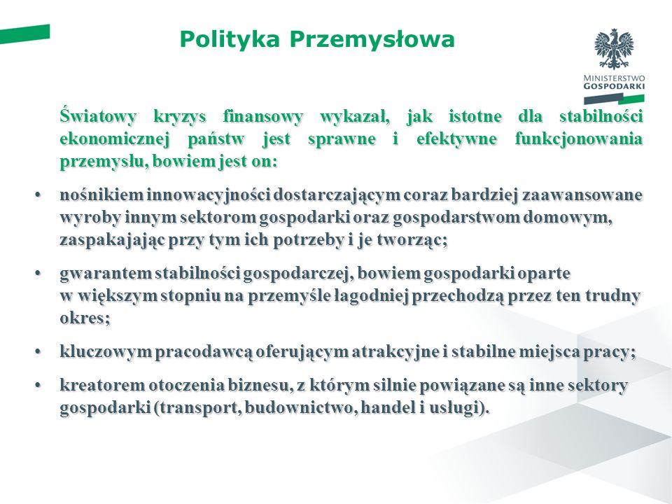 Polityka przemysłowa – nowe podejście Spójna, mieszana (hybrydowa) polityka przemysłowa łącząca podejście horyzontalne i proaktywne podejście sektorowe.