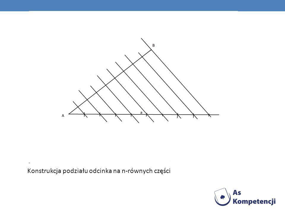 Konstrukcja podziału odcinka na n-równych części