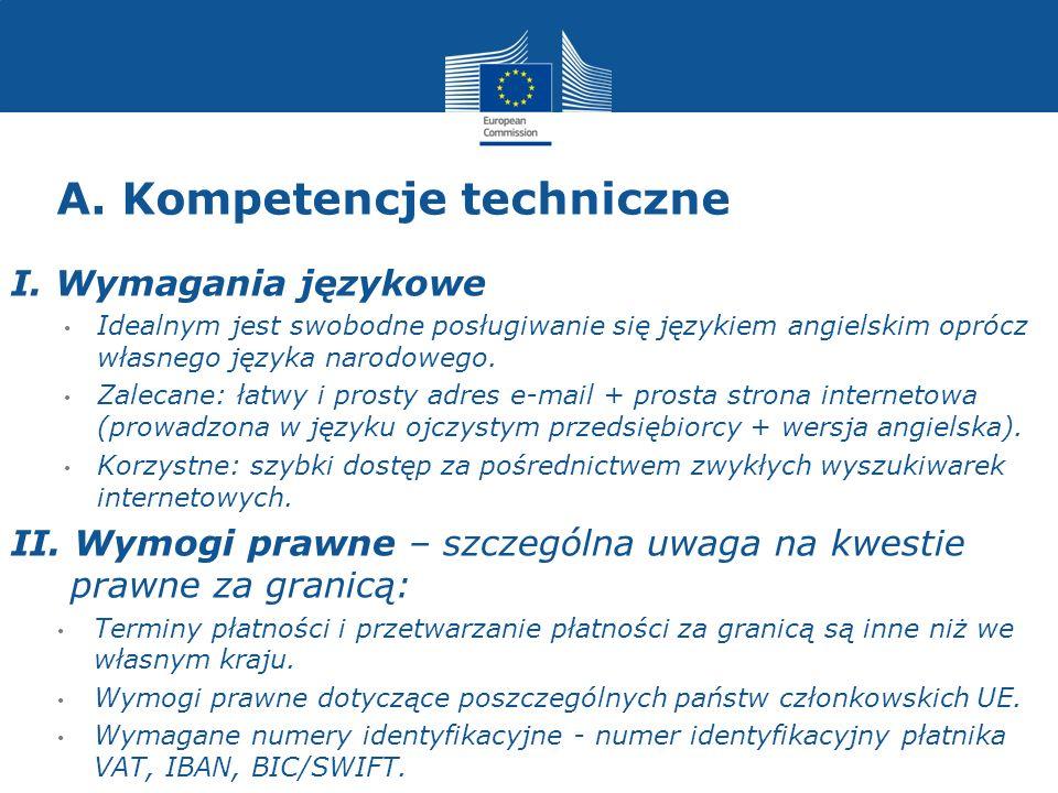 A. Kompetencje techniczne I.