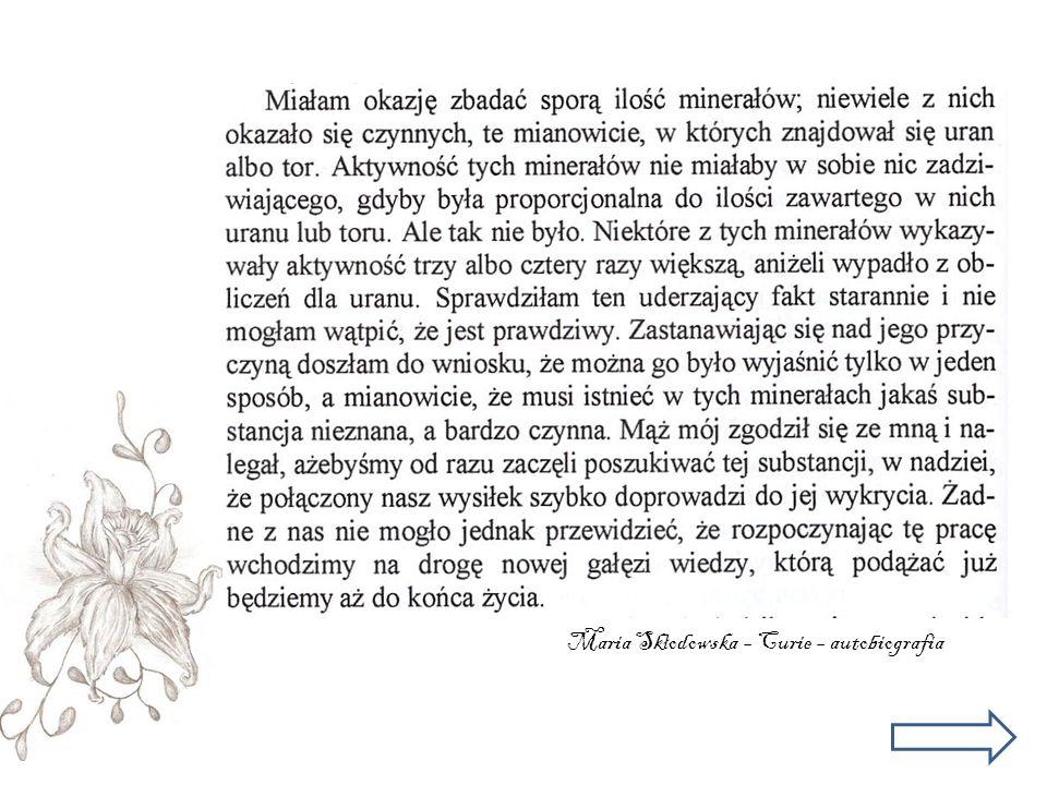 Maria Sk ł odowska – Curie – autobiografia
