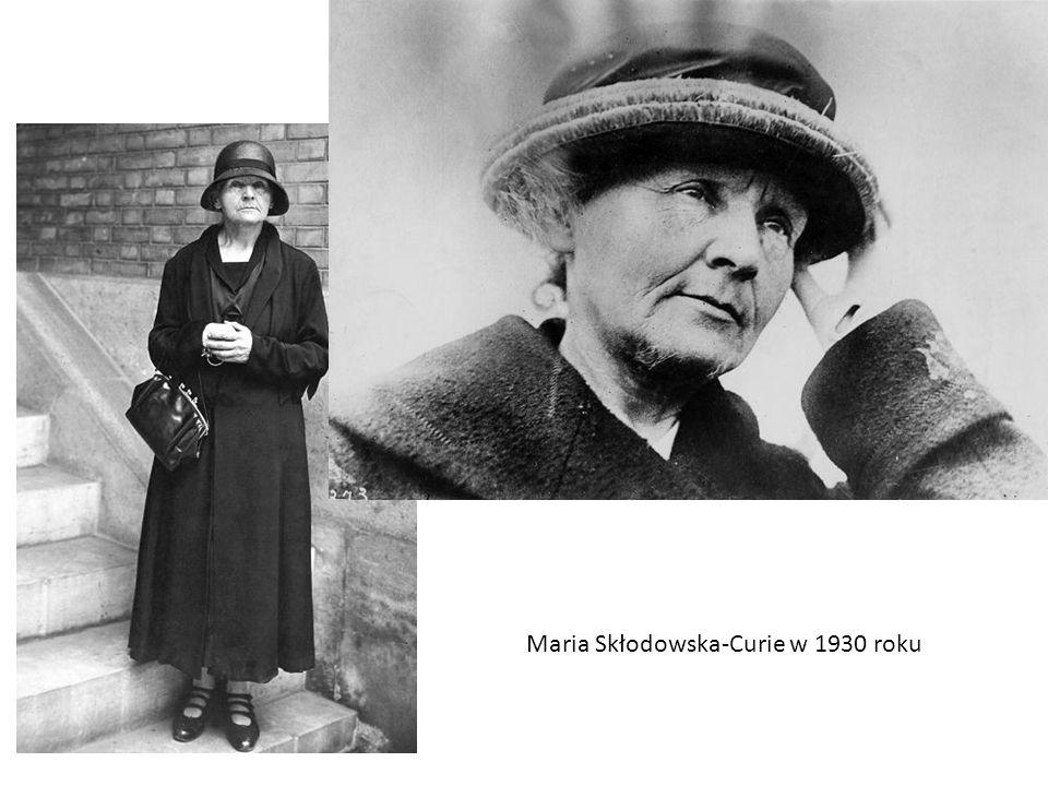 Maria Skłodowska-Curie w 1930 roku