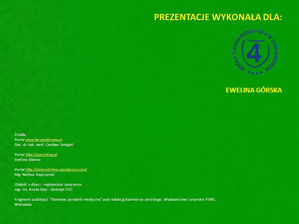 Źródła: Portal www.forumzdrowia.plwww.forumzdrowia.pl Doc. dr hab. med. Czesław Szmigiel Portal http://parenting.pl Ewelina Stanioshttp://parenting.pl