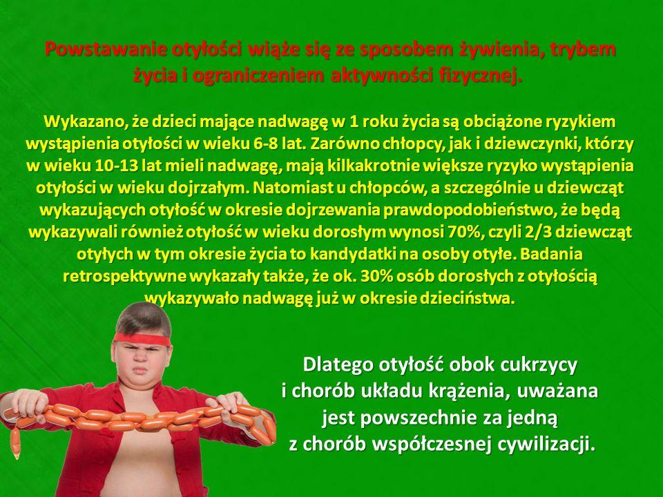Powstawanie otyłości wiąże się ze sposobem żywienia, trybem życia i ograniczeniem aktywności fizycznej. Powstawanie otyłości wiąże się ze sposobem żyw