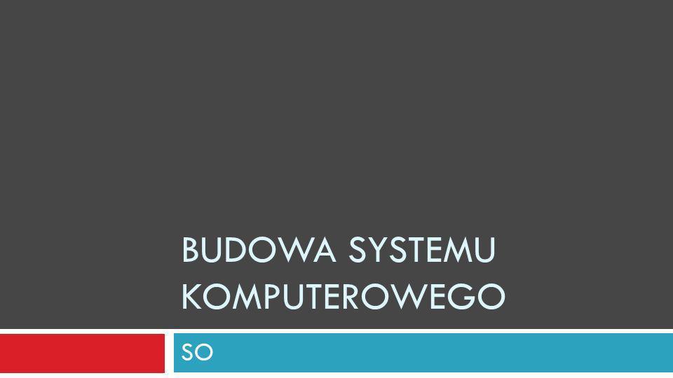 BUDOWA SYSTEMU KOMPUTEROWEGO SO