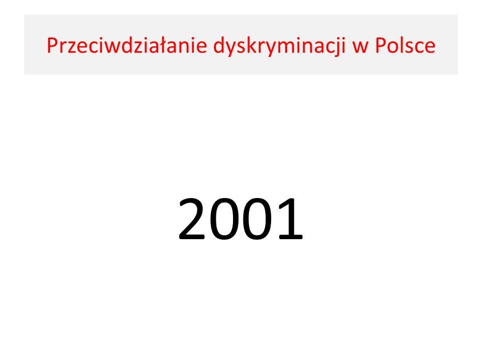 2001 Przeciwdziałanie dyskryminacji w Polsce