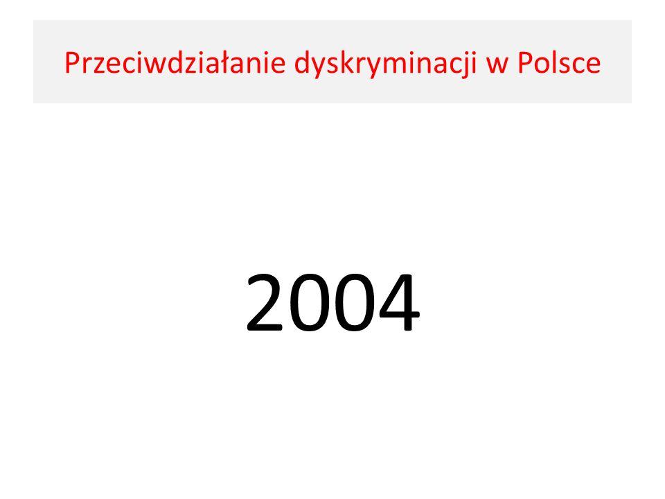 2004 Przeciwdziałanie dyskryminacji w Polsce
