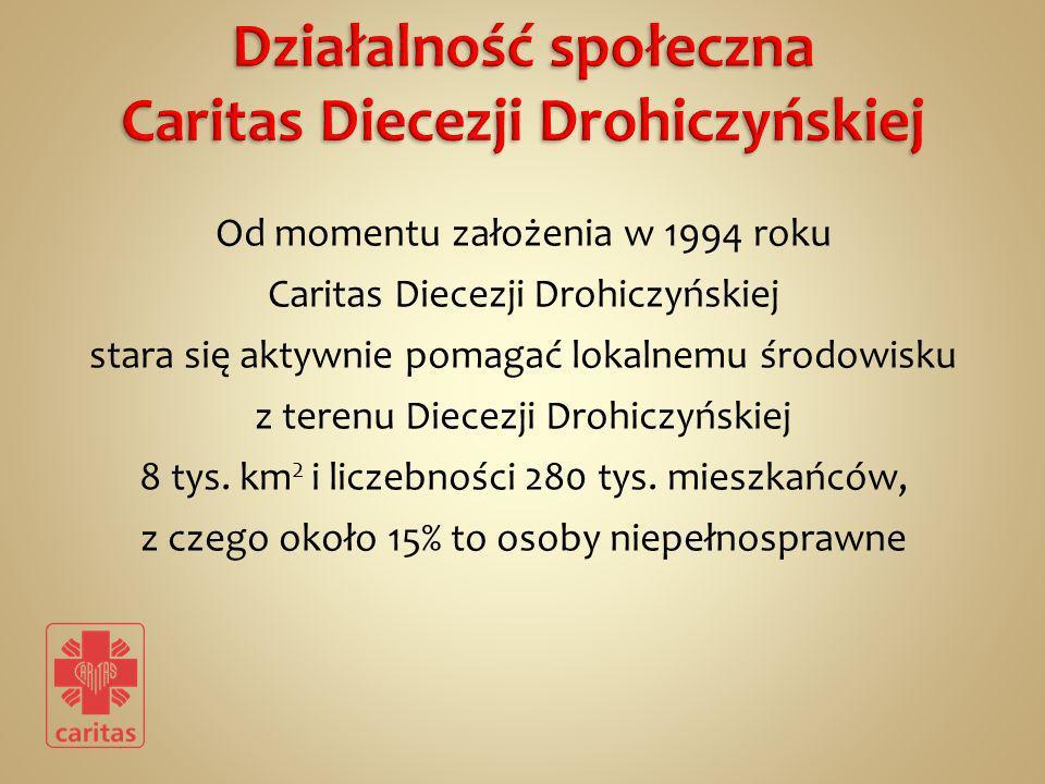Od momentu założenia w 1994 roku Caritas Diecezji Drohiczyńskiej stara się aktywnie pomagać lokalnemu środowisku z terenu Diecezji Drohiczyńskiej 8 ty