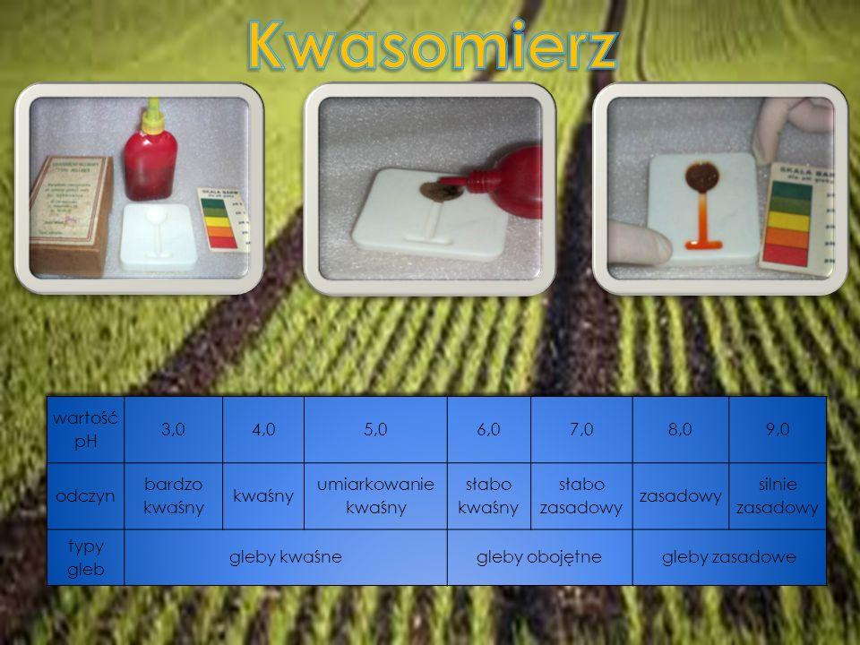 Potwierdzenie i sprecyzowanie pomiarów kwasowości gleby.