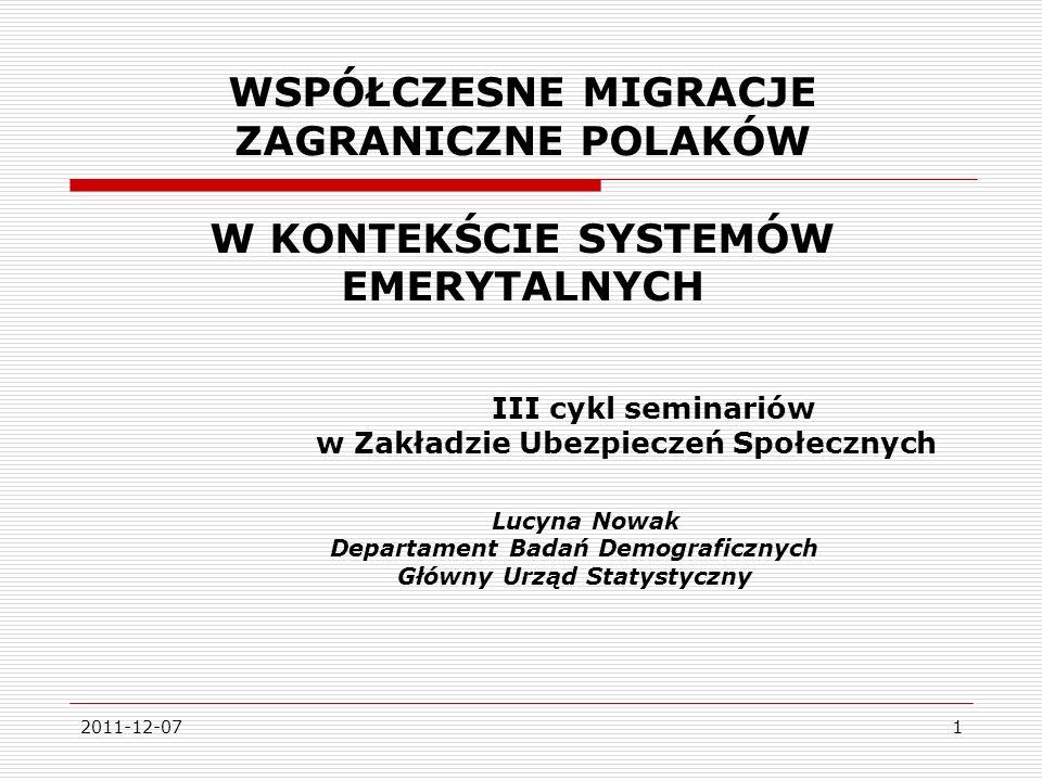 2011-12-0722 Struktura ludności Polski według wieku w latach 2007 i 2035 2007 (dane rzeczywiste) w tys.
