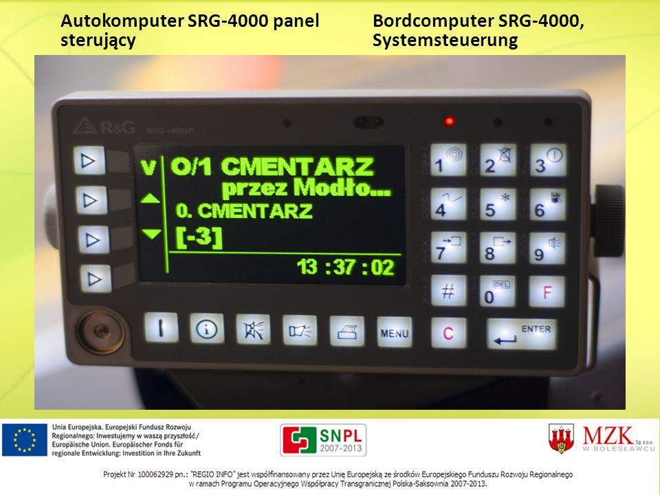 Autokomputer SRG-4000 panel sterujący Bordcomputer SRG-4000, Systemsteuerung