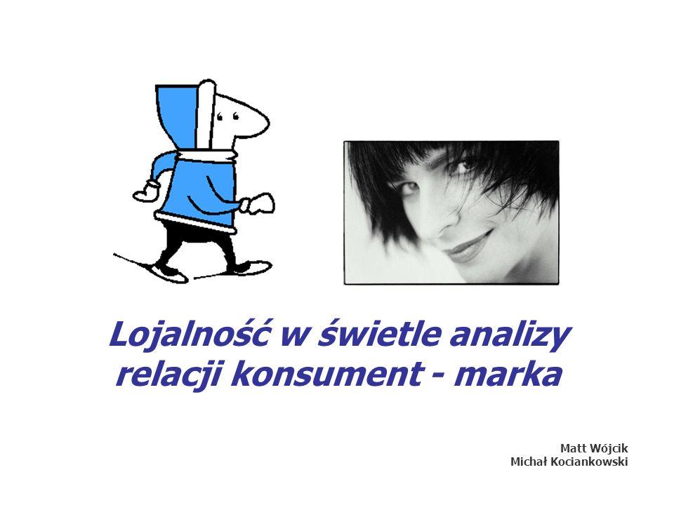 Lojalność w świetle analizy relacji konsument - marka Matt Wójcik Michał Kociankowski