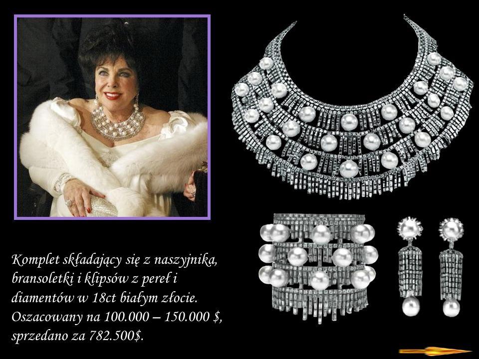 Da - Ma Komplet składający się z naszyjnika, bransoletki i klipsów z pereł i diamentów w 18ct białym złocie.