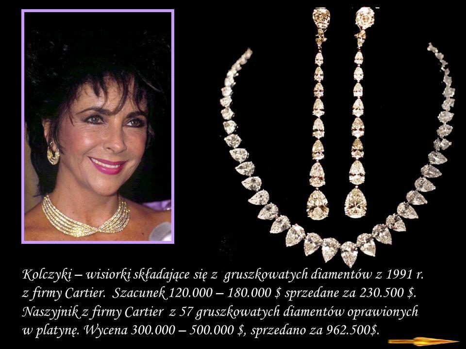 Da - Ma Kolczyki – wisiorki składające się z gruszkowatych diamentów z 1991 r.