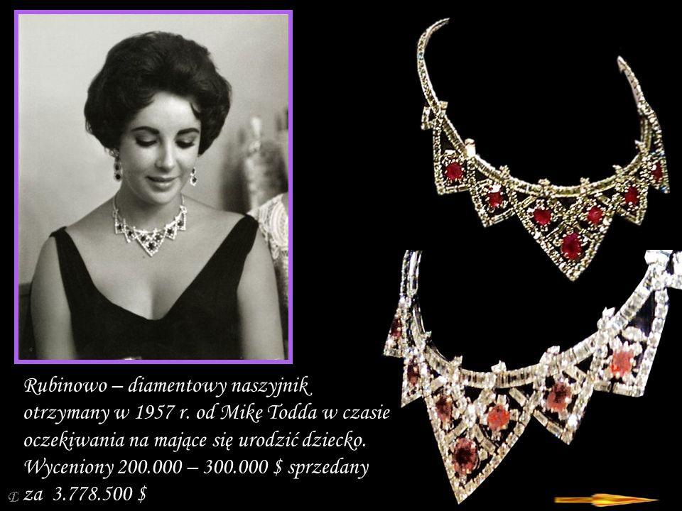 Da - Ma Rubinowo – diamentowy naszyjnik otrzymany w 1957 r.