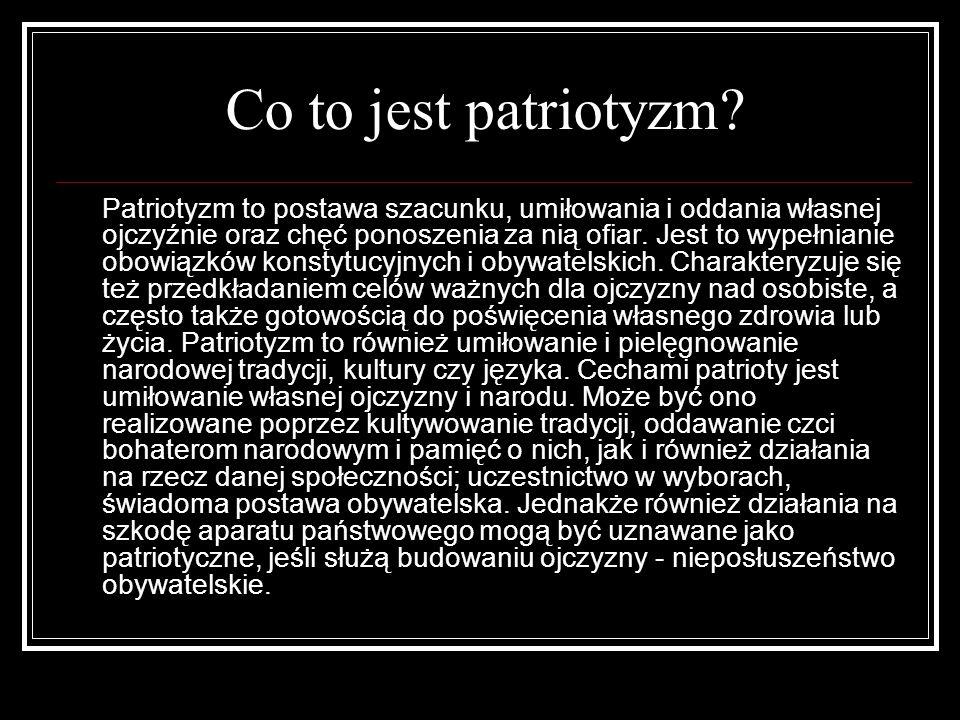 Co to jest patriotyzm.