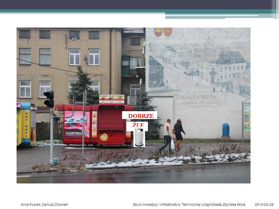 2014-02-26Alina Kubiak, Dariusz Dzionek Biuro Inwestycji i Infrastruktury Technicznej Urząd Miasta Zduńska Wola ŹLE DOBRZE