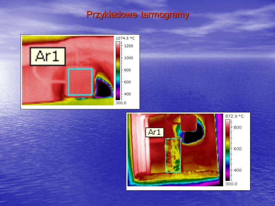 Przykładowe termogramy