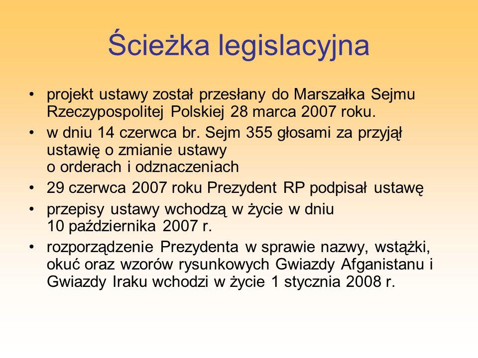Ścieżka legislacyjna projekt ustawy został przesłany do Marszałka Sejmu Rzeczypospolitej Polskiej 28 marca 2007 roku. w dniu 14 czerwca br. Sejm 355 g