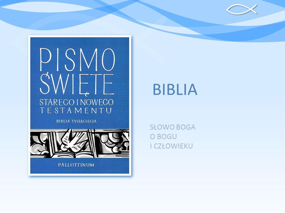 SPIS TREŚCI Terminologia Etapy powstawania Biblii Autor(zy) Biblii Natchnienie Biblijne Języki Biblijne Podział ksiąg Kanon Biblijny Typy ksiąg Sigla biblijne Ważniejsze przekłady Biblii Przydatne adresy www