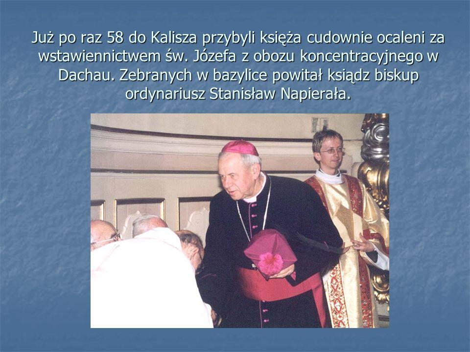 Już po raz 58 do Kalisza przybyli księża cudownie ocaleni za wstawiennictwem św.