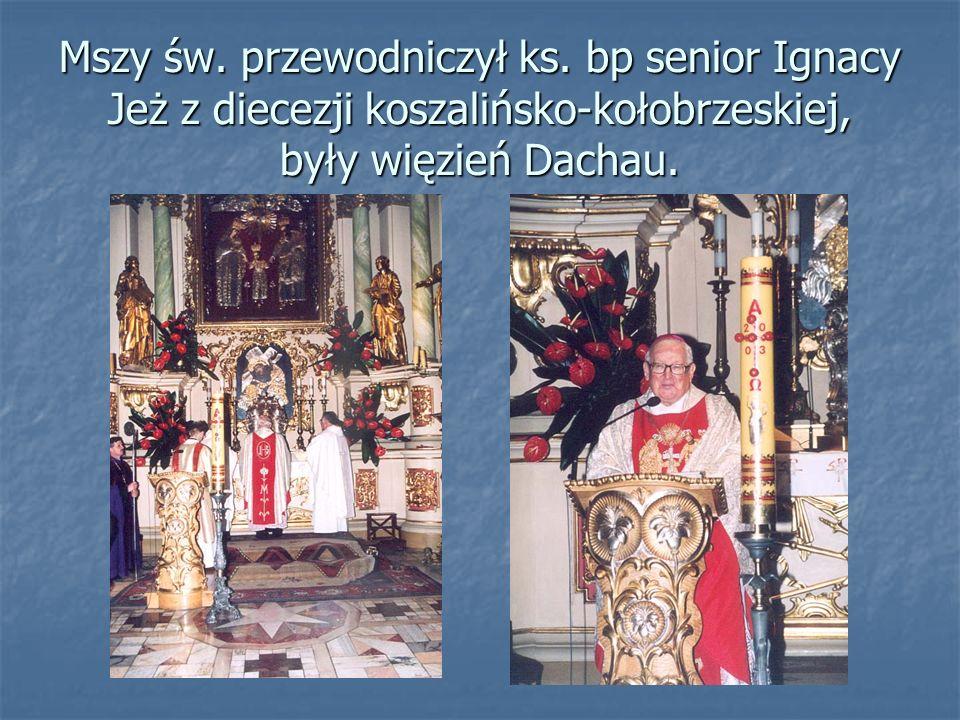 Mszy św.przewodniczył ks.