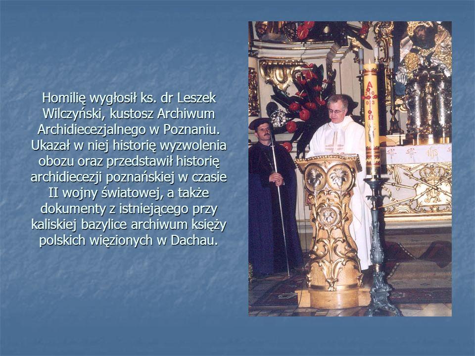 Homilię wygłosił ks. dr Leszek Wilczyński, kustosz Archiwum Archidiecezjalnego w Poznaniu.