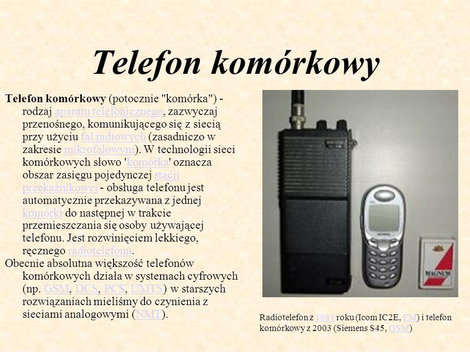 Telefon komórkowy Telefon komórkowy (potocznie