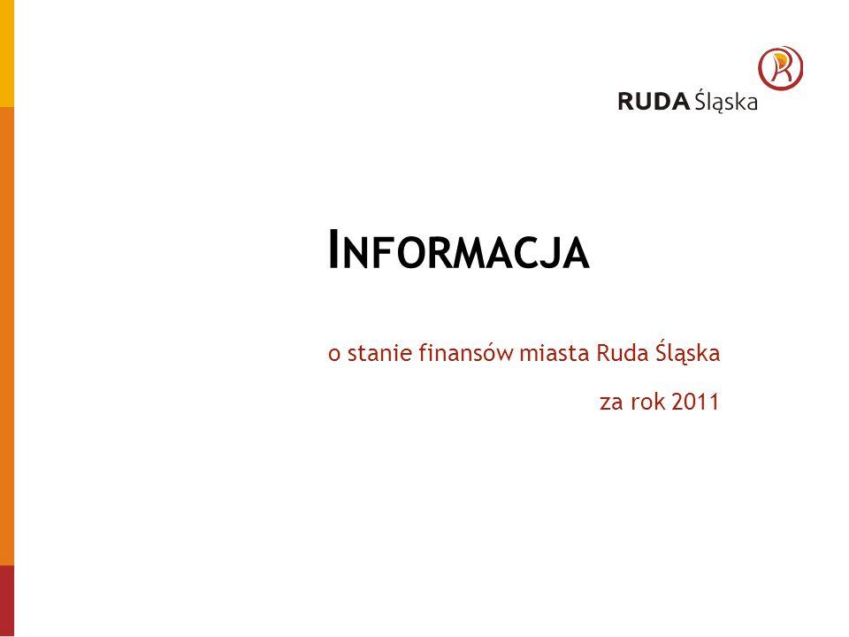I NFORMACJA o stanie finansów miasta Ruda Śląska za rok 2011