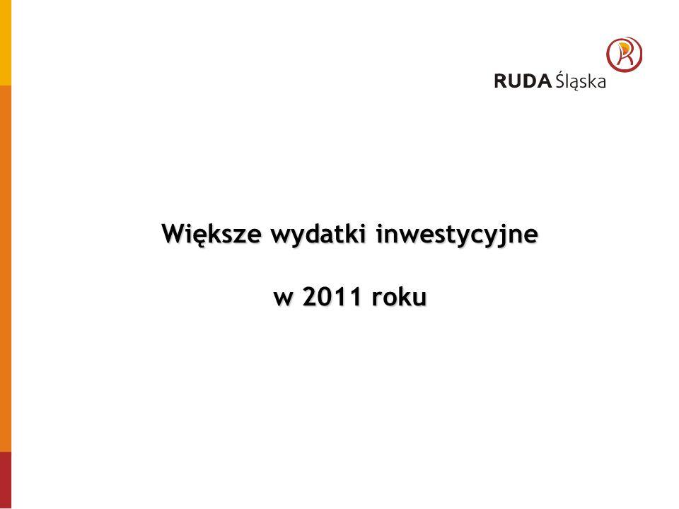 Większe wydatki inwestycyjne w 2011 roku