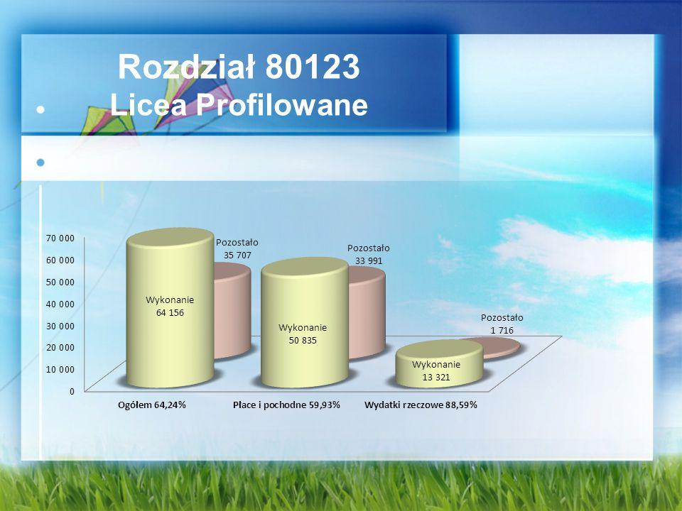 Rozdział 80123 Licea Profilowane