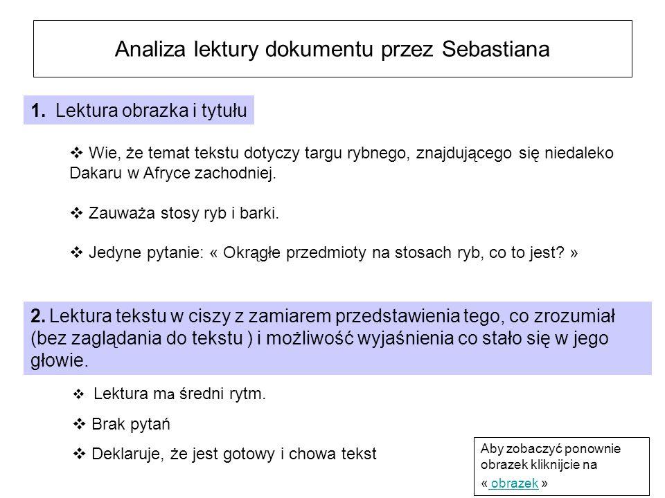 Analiza lektury dokumentu przez Sebastiana Lektura m a średni rytm.