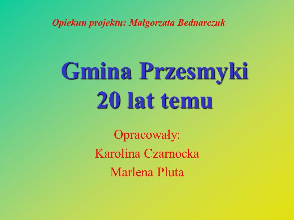 Gmina Przesmyki 20 lat temu Opracowały: Karolina Czarnocka Marlena Pluta Opiekun projektu: Małgorzata Bednarczuk