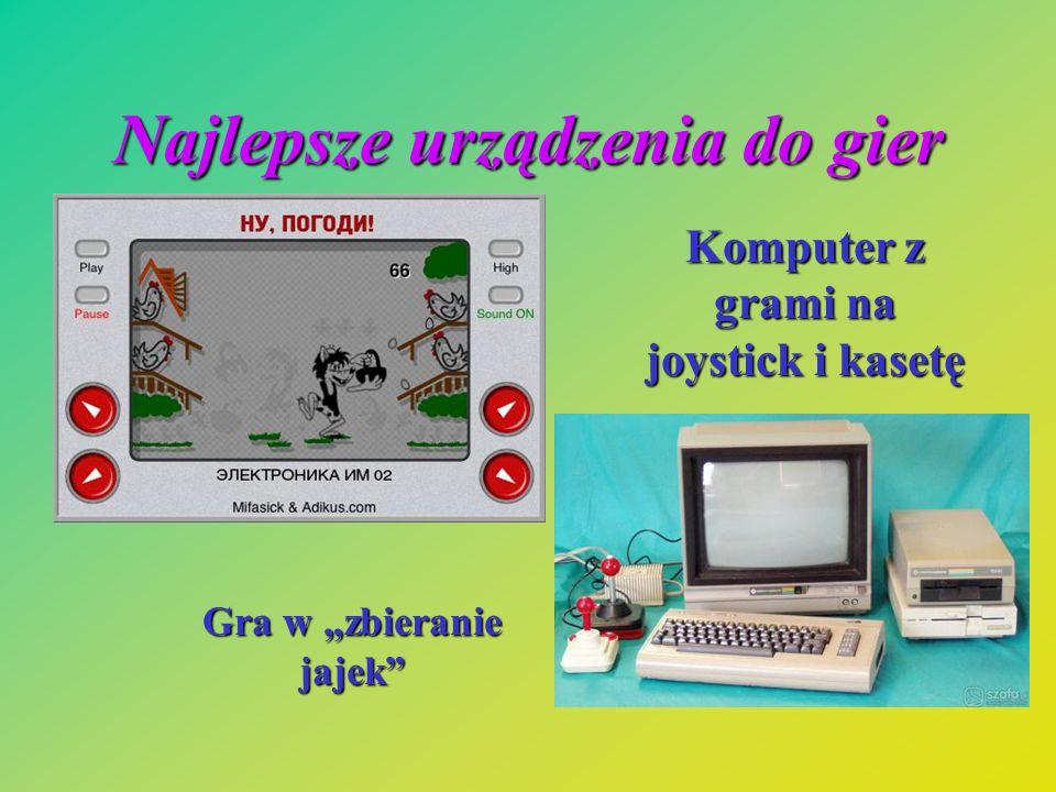 Najlepsze urządzenia do gier Gra w zbieranie jajek Komputer z grami na joystick i kasetę