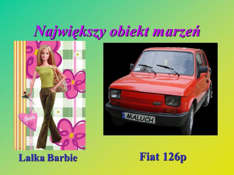 Największy obiekt marzeń Lalka Barbie Fiat 126p