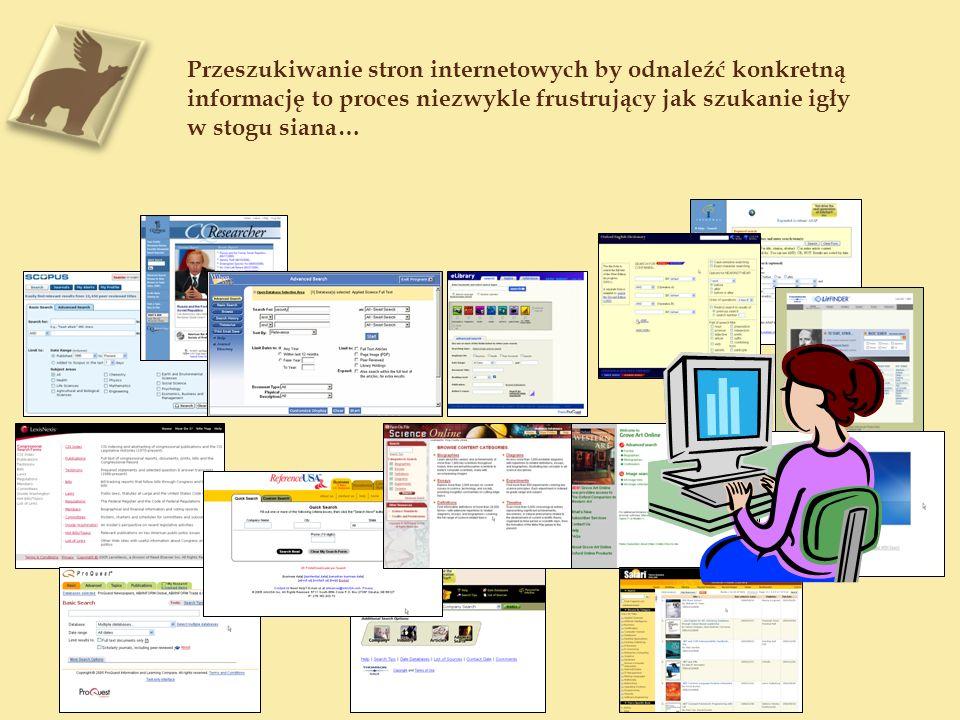Przeszukiwanie stron internetowych by odnaleźć konkretną informację to proces niezwykle frustrujący jak szukanie igły w stogu siana…