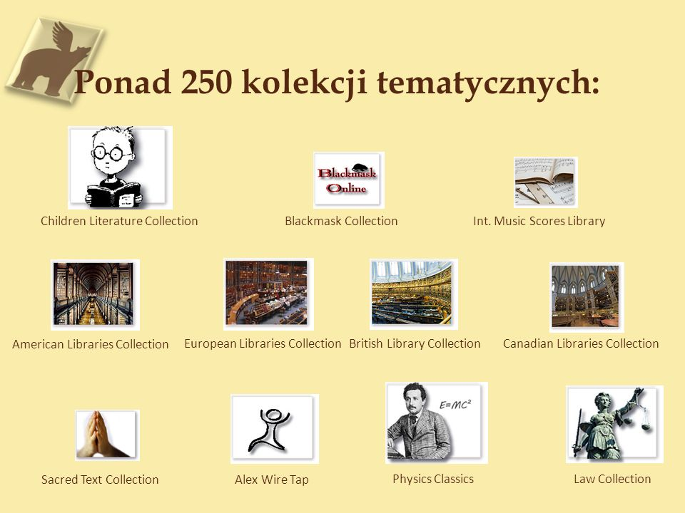 235,000 Dokumentów Rządowych Department of Education 6,252 eBooks Department of Commerce 2,238 eBooks Small Business Administration 121 eBooks Environmental Protection 30,900 eBooks Federal Trade Commission 7,498 eBooks Technology Administration 2,634 eBooks N.A.S.A.