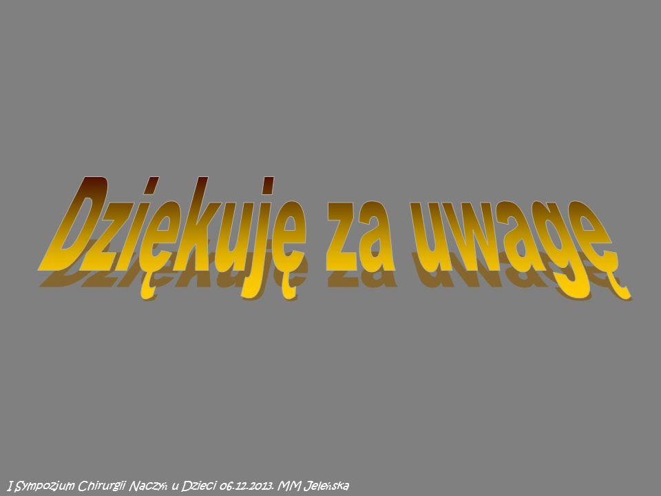 I Sympozjum Chirurgii Naczy ń u Dzieci 06.12.2013. MM Jele ń ska