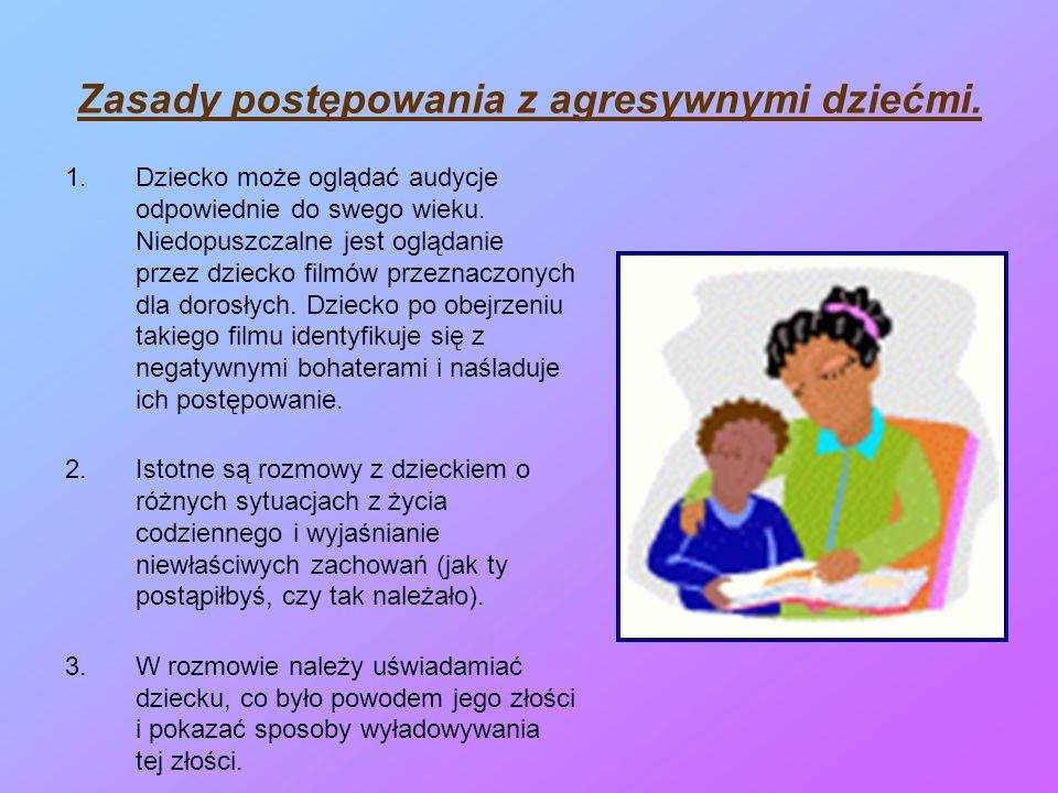 Zasady postępowania z agresywnymi dziećmi.
