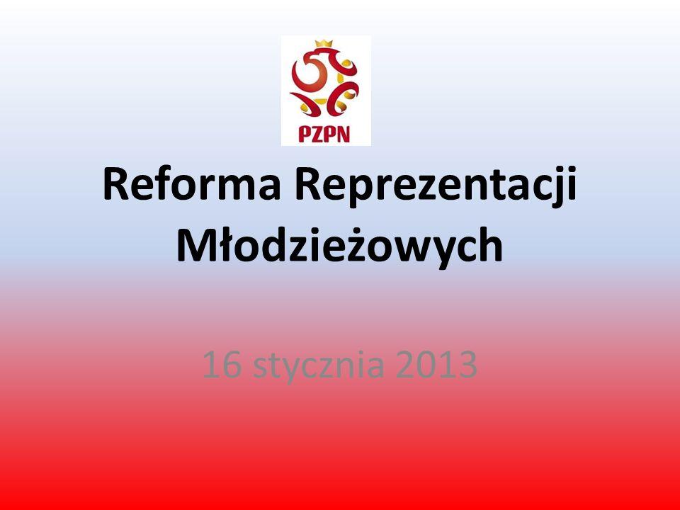 Reforma Reprezentacji Młodzieżowych 16 stycznia 2013