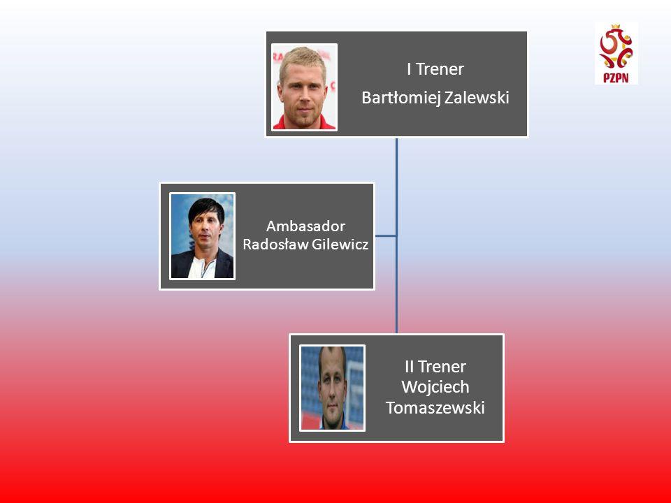 I Trener Bartłomiej Zalewski II Trener Wojciech Tomaszewski Ambasador Radosław Gilewicz